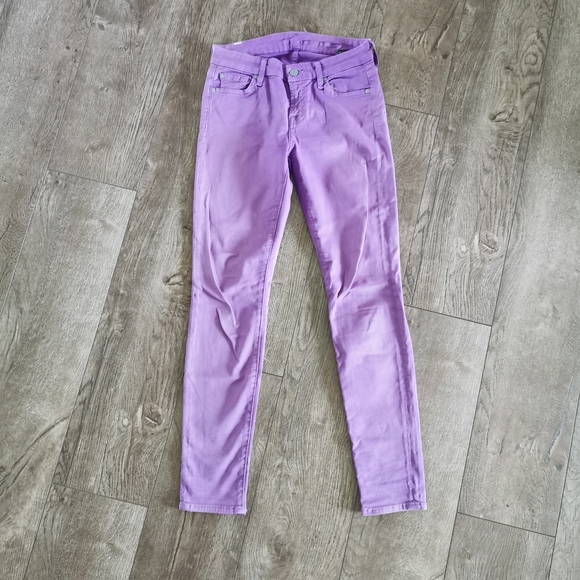 7 For All Mankind purple jeans 26